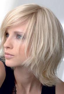 Средние стрижки для тонких волос