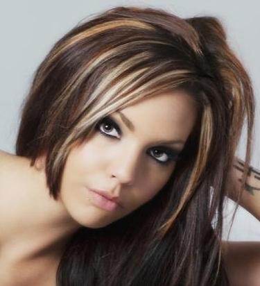 Красивое мелирование на темные волосы