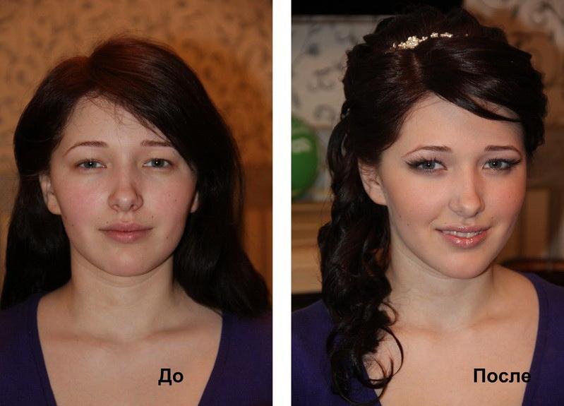 прически до и после