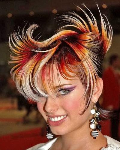 Креативное окрашивание волос фото
